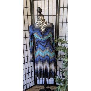 Wrap Dress Blue Cache S